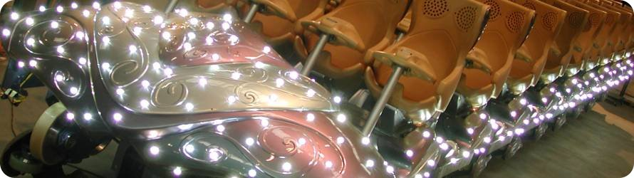 LED Lighted Roller Coaster with Graphical User Interface
